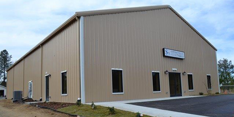 April 2013 metal building of the month arco building for How to build a basketball gym