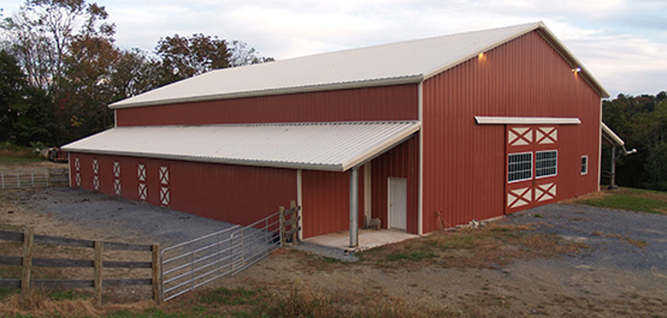 Metal Horse Barns Vs Pole Barns Arco Building Systems