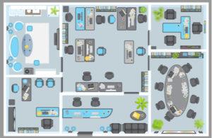 100x100 Steel Building_Office Floor Plan